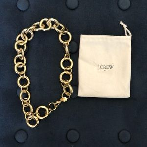 Jcrew gold link chain necklace